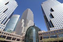 Atrio del invernadero del World Trade Center imagen de archivo