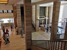 Atrio del museo archeologico nazionale di Paestum fotografia stock