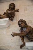 Atrio del pavie del castello, emilion del san, banca giusta, Bordeaux, Francia Fotografie Stock