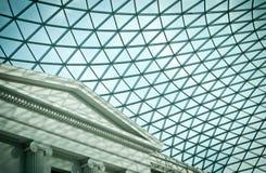 Atrio di British Museum fotografie stock