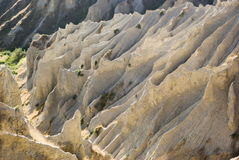 Atris badlands, Italien Arkivfoton