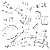 Atrists Tools. Beautiful illustration of Atrists Tools Stock Photography