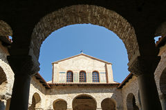 atrium bazyliki euphrasian porec Fotografia Royalty Free