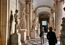 Atrium of the Capitoline Museum in Rome Royalty Free Stock Photo