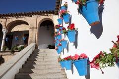 Atrium in Cordoba, Spain. Colorful atrium in Cordoba, Andalusia Spain Royalty Free Stock Image