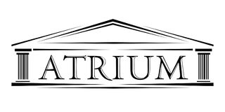 Atrium covered portico classical arch  logo Royalty Free Stock Images