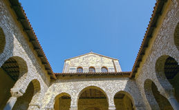 Atrium of Euphrasian basilica, Porec Royalty Free Stock Images