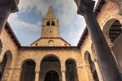 Atrium of the Euphrasian Basilica, Porec Stock Image