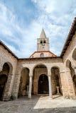 Atrium of Euphrasian basilica, Porec, Istria, Croatia Stock Photo