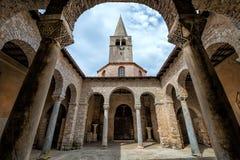 Atrium of Euphrasian basilica, Porec, Istria, Croatia Stock Photos