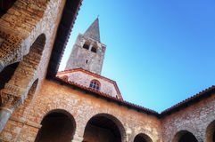 Atrium of the Euphrasian basilica in Porec Stock Photos
