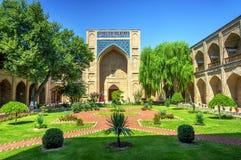 Atrium garden of Kukeldash Madrasah, Uzbekistan Royalty Free Stock Photo