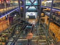 HSBC Building Hong Kong. Atrium of GSBC Hong stock image