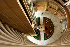 Atrium of an hotel Royalty Free Stock Image