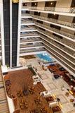 Atrium Hotel Lobby with Elevators Royalty Free Stock Images