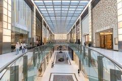 Atrium inside Dubai Mall, United Arab Emirates stock image