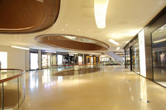 The atrium of luxury shopping mall Stock Image