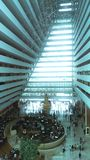 Atrium of Marina Bay Sands Hotel Stock Image