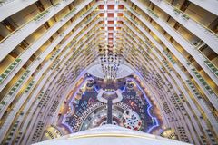 Atrium in Marina Mandarin Hotel Singapore stockfotos