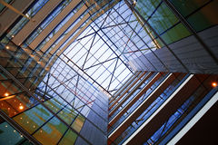 Atrium of modern building Royalty Free Stock Photos