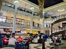 "The atrium on the P&O cruise ship Britannia. Star Burst sculpture is the dramatic centrepiece of the atrium, reflecting Britannia's ""modern classic"" style Stock Photo"