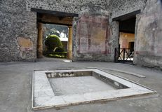 Atrium Pompeii Stock Photo