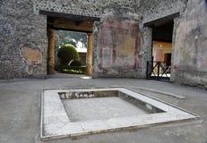 Atrium - Pompeji Stockfoto