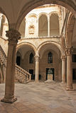Atrium, Rector's palace, Old Town of Dubrovnik Royalty Free Stock Photography