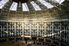 Atrium three. Remarkable free-spanning atrium in an American resort and spa Stock Images