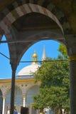 Atrium  of Topkapi Palace. Atrium of Topkapi Palace of Istanbul, Turkey Stock Photo