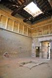 Atrium of the Villa of Publius Fannius Synistor, Herculaneum. Impluvium in the Villa Atrium of Publius Fannius Synistor, in Portrait Mode Stock Photo