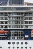 Atrium Windows on Cruise Ship Stock Photography