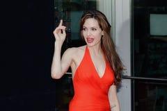 Atriz Angelina Jolie imagens de stock