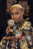 Atriz Cynthia Erivo Wins em 70th Tonys Foto de Stock Royalty Free