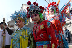 Atriz da ópera de beijing na cerimônia do feriado Fotografia de Stock