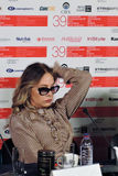 Atriz Ornella Muti no festival de cinema do International de Moscou foto de stock royalty free