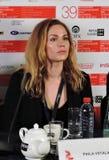 Atriz Pihla Viitala, Finlandia, no festival de cinema do International de Moscou imagens de stock