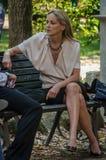 Atriz Sharon Stone em Roma, Itália imagem de stock royalty free