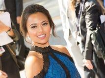 A atriz Soma Chhaya atende ao ` a premier do ` do chefe de família imagem de stock royalty free
