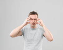 Atrocious headache Stock Photo