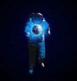 Atronaut в космосе Стоковые Фото