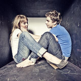 Atrractive junge Paare in der Liebe Stockfotos