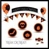 Atrybuty dla Halloween Fotografia Stock
