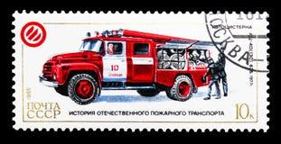 ATs-40 (130) 63B, 1977, storia del serie delle autopompe antincendio, circa 198 Fotografie Stock Libere da Diritti