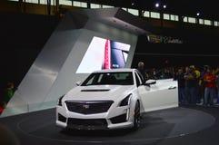 ATS Cadillac samochód na pokazie przy Chicagowskim Auto przedstawieniem obraz stock
