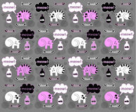 Сats on a gray background. Сats on a gray  background Royalty Free Stock Image