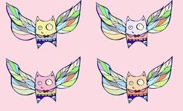 Сats with wings Royalty Free Stock Photos