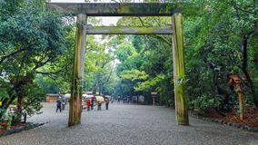 Atsuta-Jingu (Atsuta-Heiligdom) in Nagoya, Japan stock afbeelding