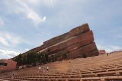 Att öva på rött vaggar amfiteatern Royaltyfria Foton
