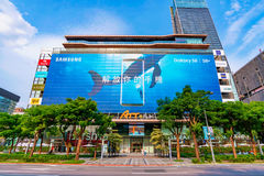 Att 4与台北101的乐趣大厦 免版税库存图片